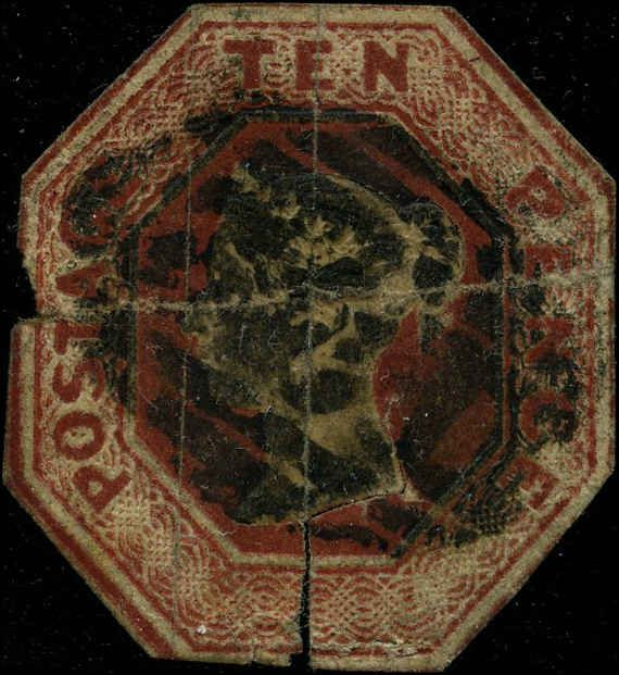 great britain 1847 stamps definitive used sg 57 cv  1950