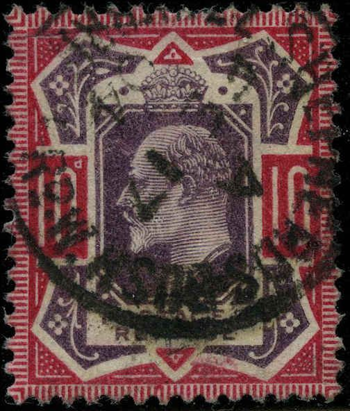 great britain 1902 stamps definitive used sg 254 cv  78 00